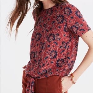 Madewell   Button Back Tie Front Blouse